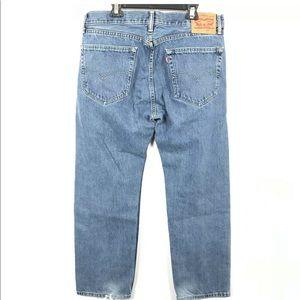 Levis 505 Regular Fit Men Jeans 36 x 30 Red Tab